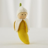 Baby Gear: Yellow Banana Baby Rattle in Baby Toys | The Land of Nod