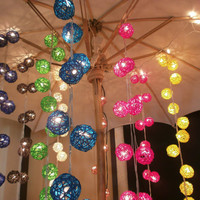 Rattan balls Hanging stringlights for party and home decoration indoor and outdoor (20 balls/pack)