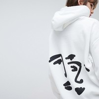 Reclaimed Vintage Inspired Hoodie With Back Face Print at asos.com