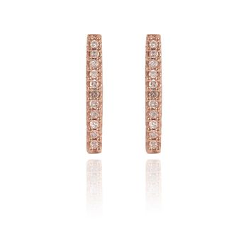 Adina Reyter Solid Pave Bar Rose