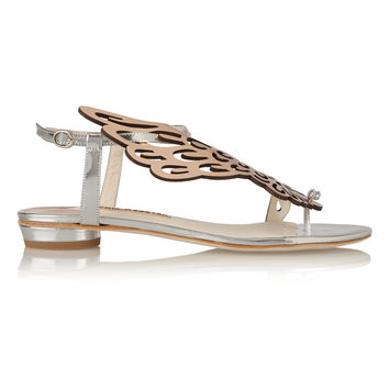 Sophia Webster - Seraphina mirrored-leather sandals