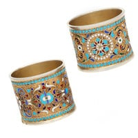 Old Russian Style Napkin Rings