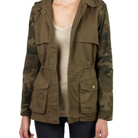Womens Camo Anorak Safari Jacket