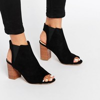 New Look Peep Toe Heeled Boot