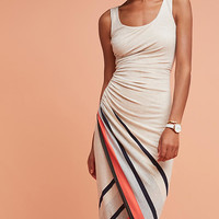 Striped Border Maxi Dress