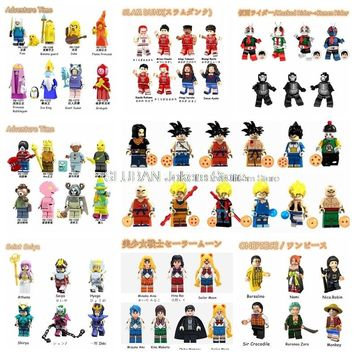 Legoing Movie Cartoon Robort Building Blocks Toys for Children Legoings Dragon Ball Aventure Time Saint Seiya Sailor Moon Figure