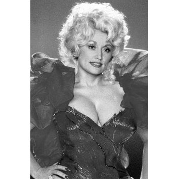 Dolly Parton Poster Standup 4inx6in black and white