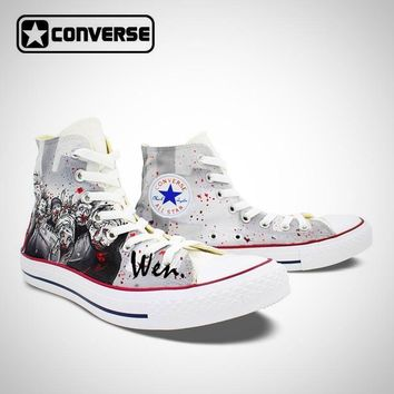 Hand Painted Shoes Man Woman The Walking Dead