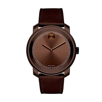 Movado Bold Metallic Brown Stainless Steel Swiss Quartz Men's Watch