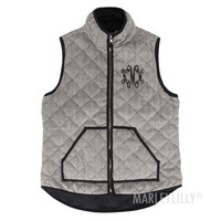 Personalized Herringbone Vest | Marleylilly