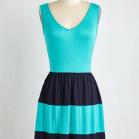 Colorblocking Short Length Sleeveless A-line Pier Today, Gone Tomorrow Dress