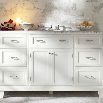 Custom Classic Modular Single Wide Sink Console - Double Storage