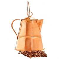 Lewis and Clark Coffee Pot - Handmade Copper Coffee Pot