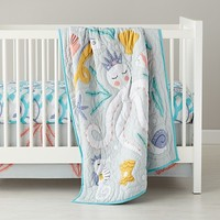 Baby Bedding: Marine Life Octopus Crib Bedding in Girl Crib Bedding | The Land of Nod