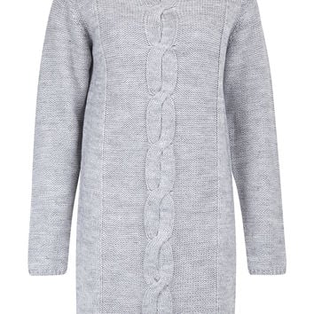Addie Light Grey Jumper Dress