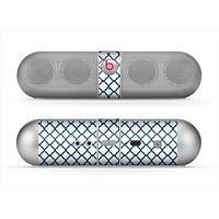 The Navy & White Seamless Morocan Pattern V2 Skin for the Beats by Dre Pill Bluetooth Speaker