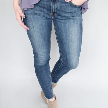 Frayed Skinny High Waist Jean