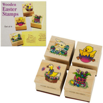 wooden easter stamps set Case of 24