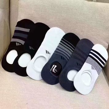 """adidas"" contracted socks neutral Low Tube cotton socks Six pairs of a set G-A-XYCL"