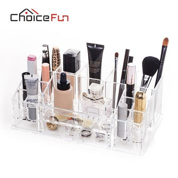 CHOICEFUN Bathroom DIY Makeup Organizer Acrylic Combinable Cosmetic Storage Box For Lipstick Nail Polish SF-20143