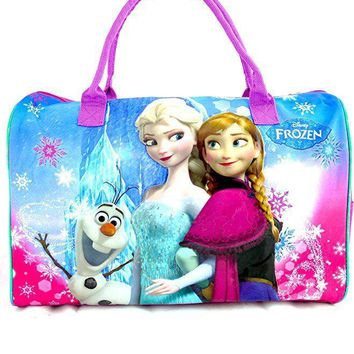 New Disney Frozen Elsa & Anna Duffle/Duffel Bag/gym Bag/travel Bag -Frozen