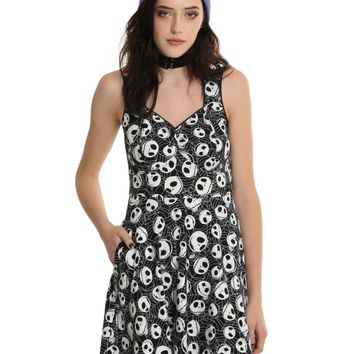 Licensed cool Disney The Nightmare Before Christmas Sweetheart Toss Dress Black & White JR NWT