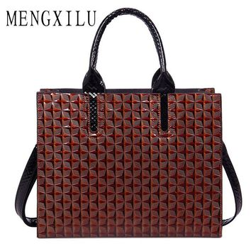 MENGXILU Leather Bags Handbags Women Famous Brand Big Women Bags Trunk Tote Spanish Brand Shoulder Bag Ladies large Bolsos Mujer