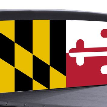Maryland State Flag Universal Truck Rear Window 50/50 Perforated Vinyl