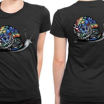 Pink Floyd Gravity As Snail Colour 2 Sided Womens T Shirt