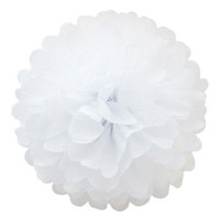 5pcs White Paper Tissue Pom Poms Balls for Wedding  Party Decoration Lantern HU