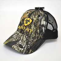 Ariat Embroidered Shield Logo Camo Snap Back Cap