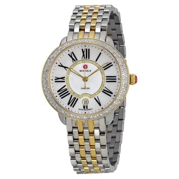 Michele Serein Mother of Pearl Two-tone Ladies Watch MWW21B000032