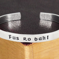 Fus Ro Dah - Skyrim - Dragons - Video Games - Aluminum Bracelet