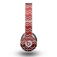 The Red Gradient Layered Chevron Skin for the Beats by Dre Original Solo-Solo HD Headphones
