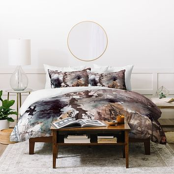 Ginette Fine Art Brown Grass Duvet Cover