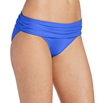 La Blanca Womens Island Goddess Shirred Band Hipster Bikini Swimsuit Bottom