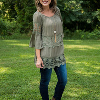 Southern Charm Tunic - Olive