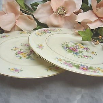 Lenox China Dinnerware, Avon Pattern #S300 Set of 2 bread plates