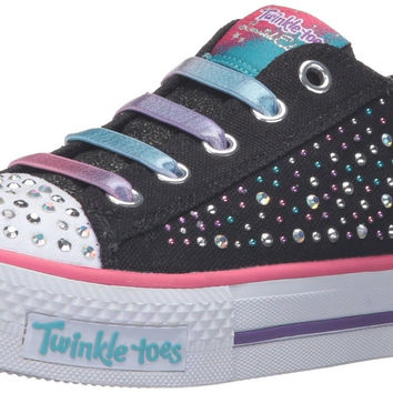 Skechers Kids Twinkle Toes Chit Chat Light-Up Lace-Up Sneaker (Little Kid)