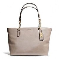 MADISON EAST/WEST TOTE IN LEATHER