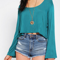 Urban Outfitters - Ecote Bell-Sleeve Cropped Top