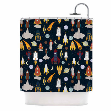 "Stephanie Vaeth ""Rockets"" Celestial Pattern Shower Curtain"