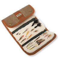 Maine Guide Waxed-Canvas Fly Wallet: Fly Boxes   Free Shipping at L.L.Bean