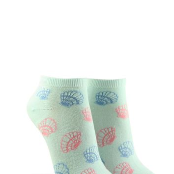 Seashell Graphic Ankle Socks
