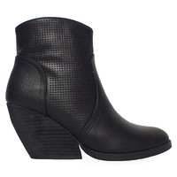 """Xanny"" Perforated Wedge Booties by Very Volatile-FINAL SALE"