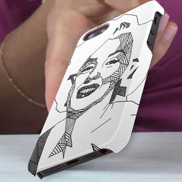 geometric marylin monroe 3D iPhone Cases for iPhone 4,iPhone 4s,iPhone 5,iPhone 5s,iPhone 5c,Samsung Galaxy s3,samsung Galaxy s4
