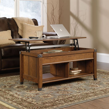 Lift-Top Coffee Table In Washington Cherry Finish