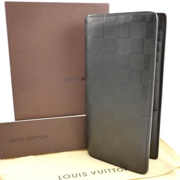 Louis Vuitton Authentic Brazza Wallet Long Damier Infini Leather Bifold Black