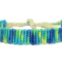 Variegated Color Alpha Pattern Embroidery Macrame Friendship Bracelet