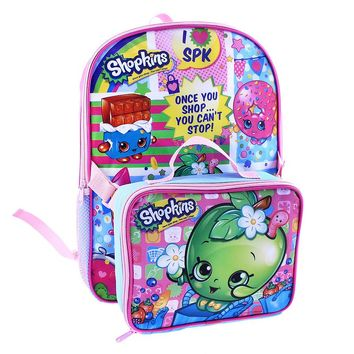 Shopkins Backpack & Lunch Bag - Kids (Chocolate)